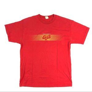 VTG Fox Racing Inc Red/Orange Graphic T-shirt